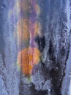 FRACTAL # 12 (detail) Oil dispersion / paper 95 x 55 cm