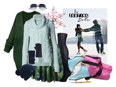 """""""on thin ice"""" by ffendi ❤ liked on Polyvore featuring Disney, Indigo Collection, Lemon, Elizabeth and James, Keds, Vincent Pradier and iceskatingstyle"""