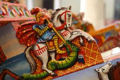 Detail on a Sicilian Cart - Looks like St. George slaying the dragon.