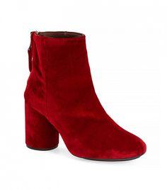 Topshop Pinball Velvet Ankle Boots