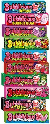 Bubblicious -won the bubble gum blowing contest in grade with 3 pieces and a team effort chewing the gum to exact stage ripeness ; 90s Childhood, My Childhood Memories, Sweet Memories, Bubblicious Gum, Bonbons Vintage, Lisa Frank, Bubble Yum, 90s Nostalgia, 80s Kids