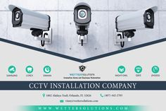 Wetter Solutions is a Orlando based CCTV installation company which also provide Surveillance kit with complete network setup for Home & Business areas. Security Logo, Security Camera, Video Security, Security Solutions, Home Security Systems, Cctv Camera Installation, Structured Cabling, Cctv Surveillance, Best Home Security
