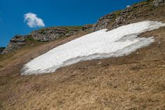 Summer View With Snow In Bucegi Mountains, Bucegi National Park, Sunny Day, Clear Sky With Few Clouds Free Photos, My Photos, Stock Photos, Clear Sky, Sunny Days, Sunnies, Photo Editing, National Parks, Photoshop