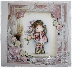 Tilda with Daisy - magnolia stamps