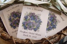 Personalized Lilac Bunches Design  Seeds Party Favors