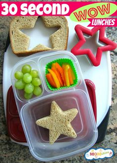 how to make school lunches more fun: 30 second wow! lunches MOMables.com
