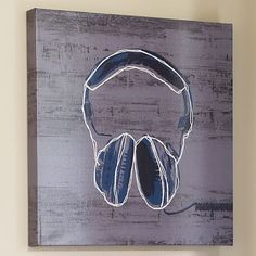 Headphones Wall Art #potterybarnteen