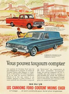 All sizes | 1961 Ford F-100 Pickup & Falcon Sedan Delivery (Canada) | Flickr - Photo Sharing!