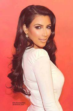 Kim Kardashian beautiful hair