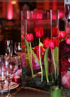 Tulips underwater. I like the candle better.