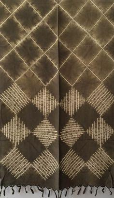Aranya Naturals Silk Scarf - Color Block Shibori dyed with Eupatorium – The Yarn Tree - fiber, yarn and natural dyes