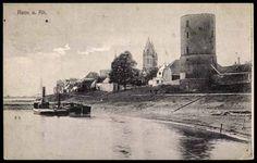 Ansichtskarte / Postkarte Rees Rhein, Dampfer am Ufer, Turm, Gasthof, 1916   akpool.de