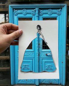 Shamekh Bluwi y la ilustración de moda urbana – Nice Fucking Graphics! Fashion Sketchbook, Fashion Sketches, Fashion Illustrations, Dress Sketches, Silhouette Mode, Creators Project, Beautiful Sketches, Creative Background, Art Lessons