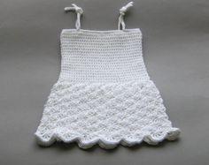 Baby Dress Baby Girl Dress Newborn Dress por KnitAndCrochetLAND