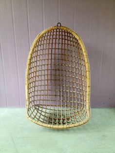 Vintage Rattan Swing Chair by Evelyn Gray Home eclectic chairs