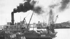 Before Stockton Bridge, three punts took vehicles across the harbour.