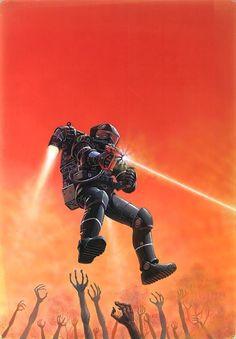 Prime Number by Peter Elson Science Fiction Illustrator Art Science Fiction, Pulp Fiction, Evil Dead, Arte Sci Fi, 70s Sci Fi Art, Future Soldier, Classic Sci Fi, Sci Fi Books, Comic Books