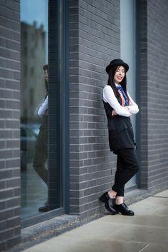 lillymarlenne.blogspot.com  Elegant OOTD with neckerchief #elegant #outfit #androgynous #womensfashion