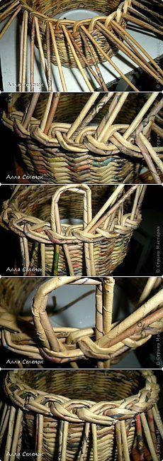 Weave turning-codino.  Master Class.  - tubi giornale Tessitura - artigianali di carta - Editore - Rukodel.TV