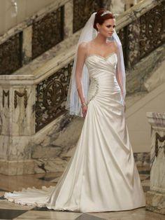 Strapless Sweetheart Hand-Draped Bodice A-line Wedding Dress