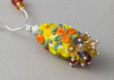 Golden Flower Necklace by Ciel Creations