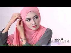 Cara Berjilbab wajah Bulat - Hijab pashmina simple Kreasi Shawlbyvsnow  ...