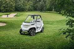 The Mercedes Benz Style Edition Garia Golf Cart's sleek new design includes all of the basic features needed to handle various situations on the green