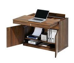 Modern Bureau Desks Design : Luxurious Modern Writing Bureau Cubus By Team7