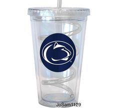NCAA Penn State Nittany Lions 16 oz Swirl Straw Tumbler - Double Wall Travel Cup #PennStateNittanyLions #JoSam1129 #NCAA #PennStateNittanyLions #PennState #PennStateSwirlStrawTumbler #WeAre #PennStateTravelCup