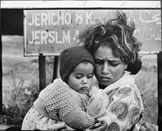 In this 1968 photo, a Palestinian woman arrives at a Jordanian refugee camp as part of the exodus of Palestinians from the West Bank and Gaza following the 1967 war. Many thought they were only seeking temporary shelter at the time.