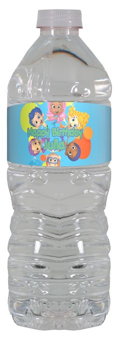 Bubble Guppies personalized water bottle labels – worldofpinatas.com