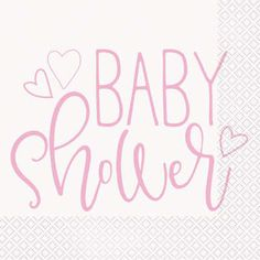 Servítky Baby Shower ružové Baby Shower, Decor, Babyshower, Decoration, Decorating, Baby Showers, Deco