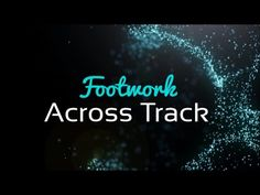 Foot Work is important to help you get across the track from inside to outside…