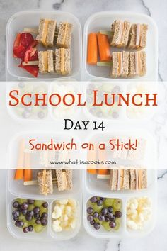 easy school lunch idea: sandwiches on a stick! whatlisacooks.com