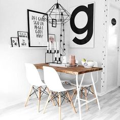 Small Dining Room - Dining rooms comprise in most measurements and may be one of the most troublesome chambers to decorate. Room Inspiration, Interior Inspiration, Furniture Dining Table, Wooden Furniture, Dining Chair, Dining Area, Furniture Chairs, Furniture Plans, Kids Furniture