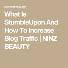 What Is StumbleUpon And How To Increase Blog Traffic   NINZ BEAUTY