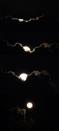 Moon appearing behind clouds