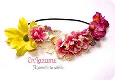 Vincha de flores Tendencia floral Wsp: 966398054