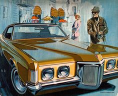 vintage everyday: American & Canadian Illustrated Automobile Ads from 1960s-1970s