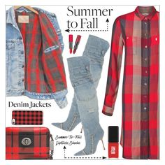 """""""DENIM JACKET"""" by shoaleh-nia ❤ liked on Polyvore featuring Levi's, Coach, Dolce&Gabbana, Casetify, Rimmel and Jin Soon"""