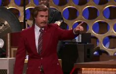 Ron Burgundy is back, baby. Will Ferrell appeared as the Anchorman character on Conan to announce a sequel is official.