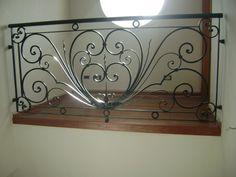 Steel Grill Design, Steel Railing Design, Grill Gate Design, Balcony Railing Design, Iron Stair Railing, Stair Handrail, Staircase Design, Railings, Fence Wall Design