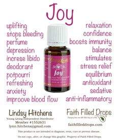 """Joy- in a bottle!  :)  This is my """"get-happy"""" oil!"""