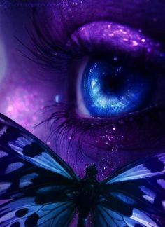 This fantasy eye has everything I love: Purple & Butterfly!