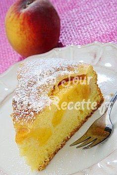 Photo de la recette Gâteau moelleux aux pêches