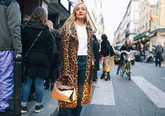 Kate Foley in a Yves Salomon coat with a Loewe bag