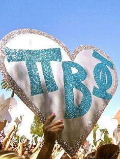Pi Phi poster-do as Phi Sig? Phi Sigma Sigma, Delta Phi Epsilon, Pi Beta Phi, Tri Delta, Alpha Sigma Alpha, Phi Mu, Delta Gamma, Theta, Sorority Bid Day