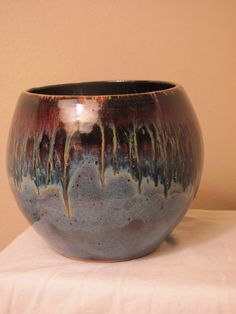 Potters Choice glazes. Ancient Jasper on top. Blue on top