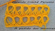 Fazendo crochê peruano!!! A pedido das meninas