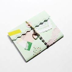 cute mint collage wrap - hello sandwich for vogue japan